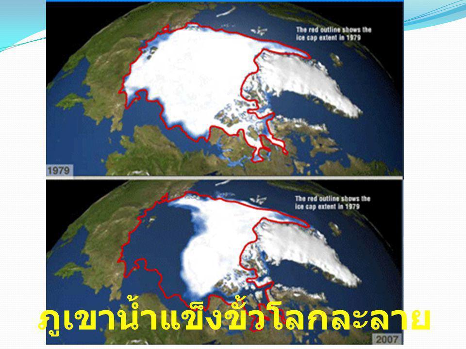 ภูเขาน้ำแข็งขั้วโลกละลาย