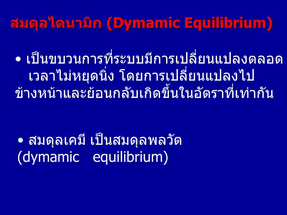 สมดุลไดนามิก (Dymamic Equilibrium)