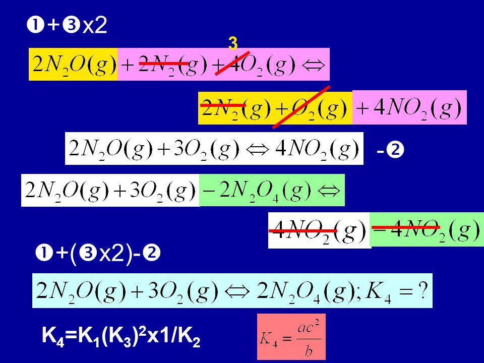+x2 3 - +(x2)- K4=K1(K3)2x1/K2