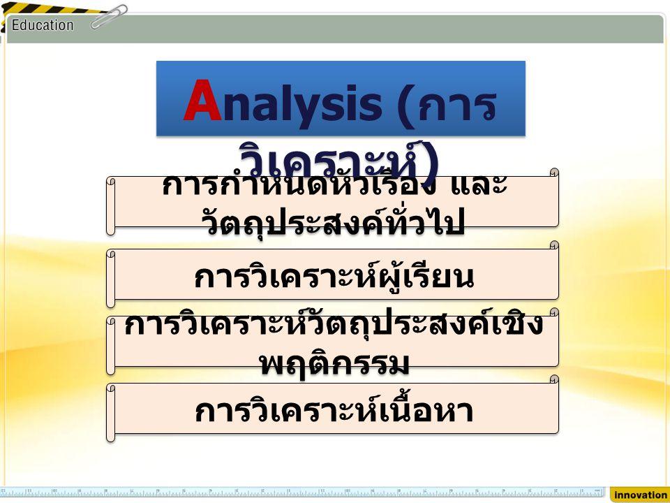 Analysis (การวิเคราะห์)