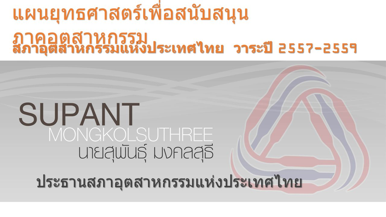 ประธานสภาอุตสาหกรรมแห่งประเทศไทย