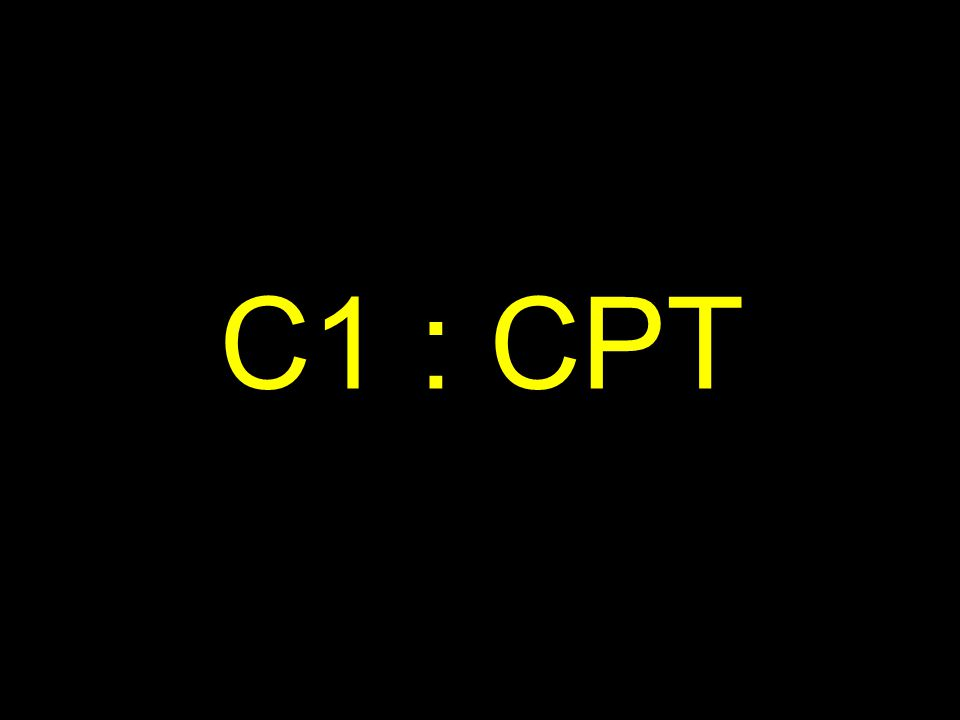 C1 : CPT