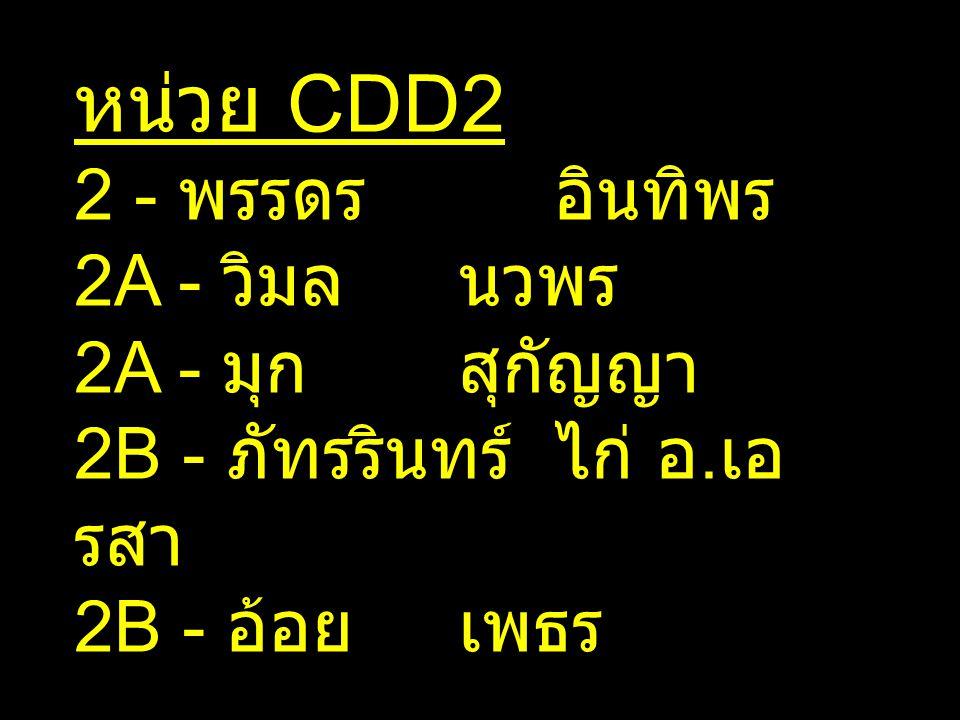 หน่วย CDD2 2 - พรรดร อินทิพร 2A - วิมล นวพร 2A - มุก สุกัญญา