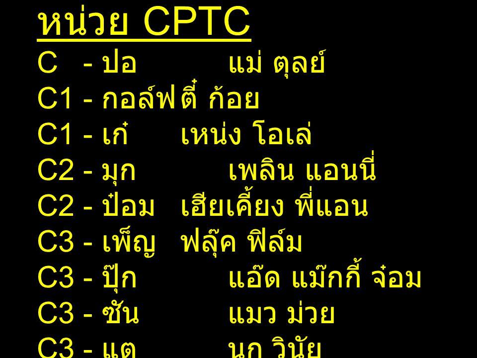 หน่วย CPTC C - ปอ แม่ ตุลย์ C1 - กอล์ฟ ตี๋ ก้อย C1 - เก๋ เหน่ง โอเล่