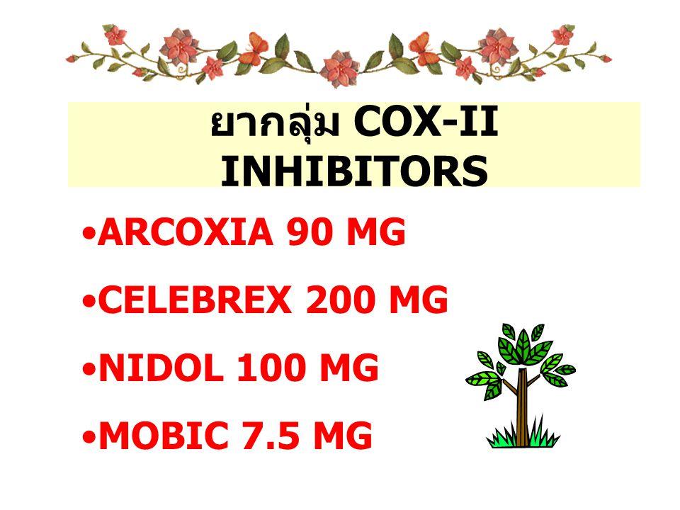 ยากลุ่ม COX-II INHIBITORS
