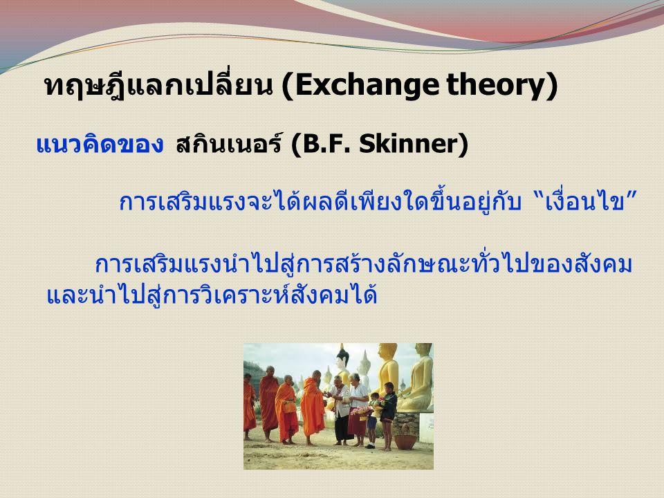 ทฤษฎีแลกเปลี่ยน (Exchange theory)