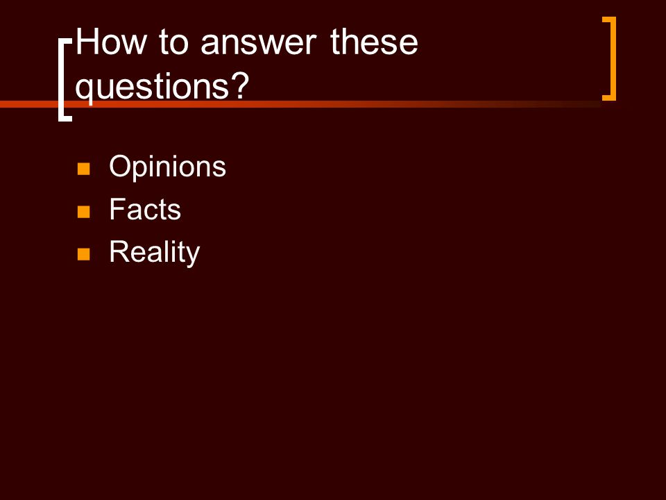 How to answer these questions