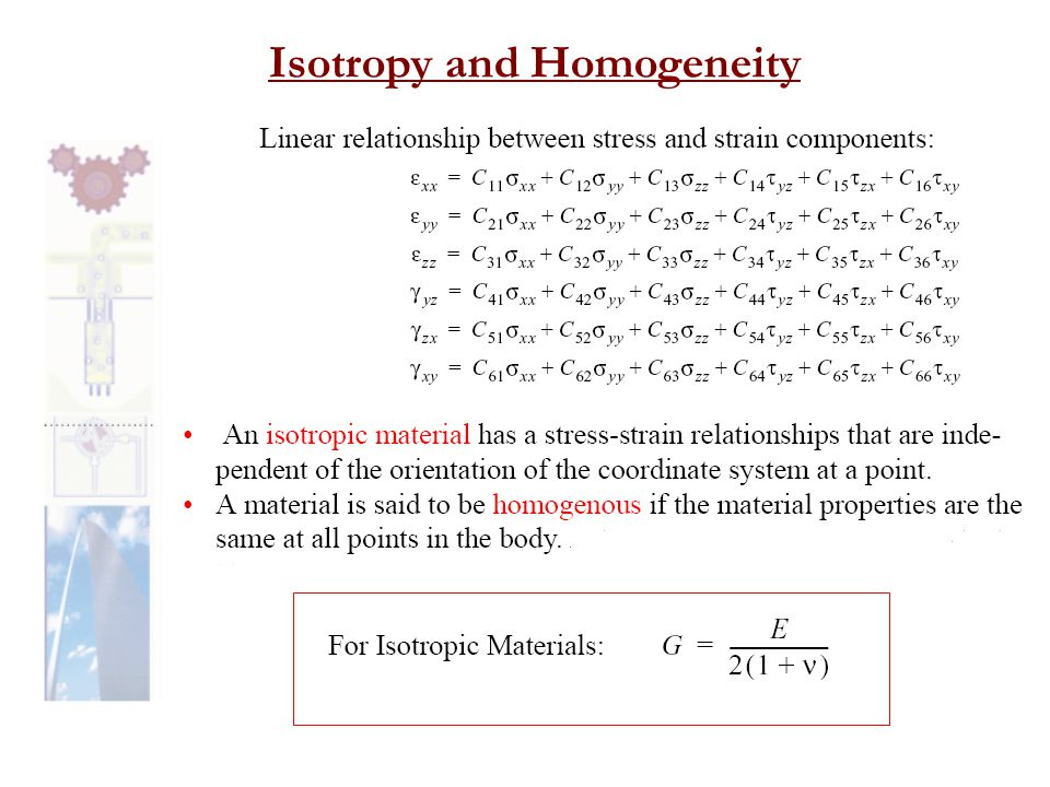 Isotropy and Homogeneity