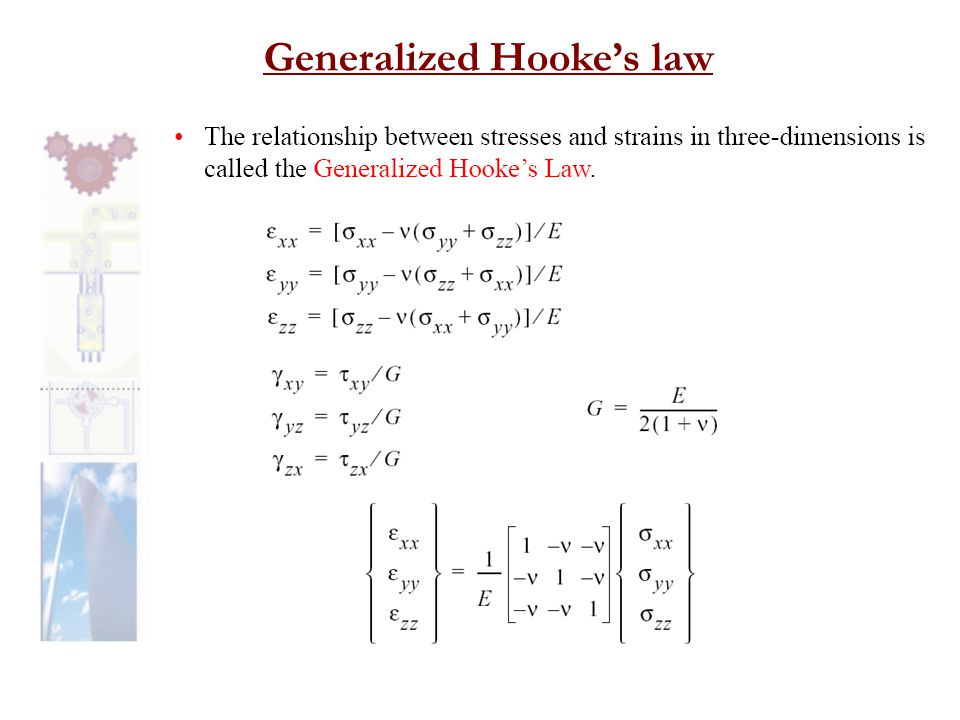 Generalized Hooke's law