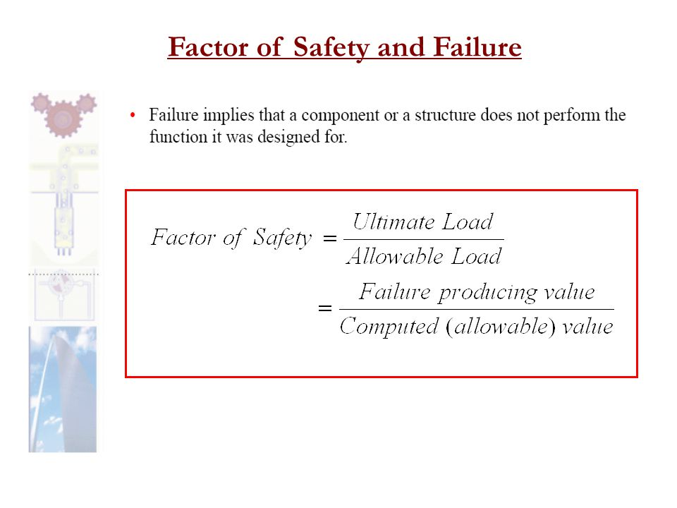 Factor of Safety and Failure