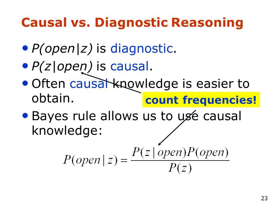 Causal vs. Diagnostic Reasoning