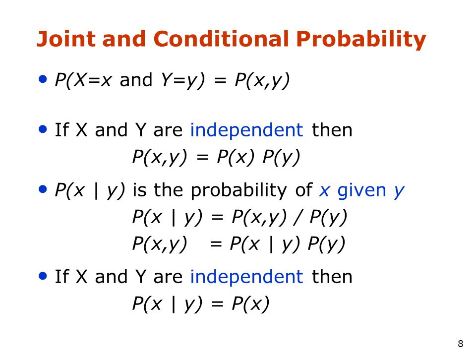Joint and Conditional Probability
