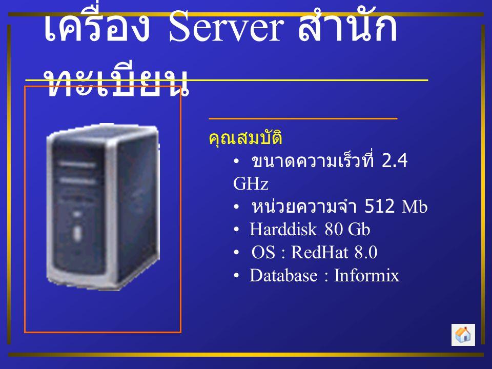 เครื่อง Server สำนักทะเบียน