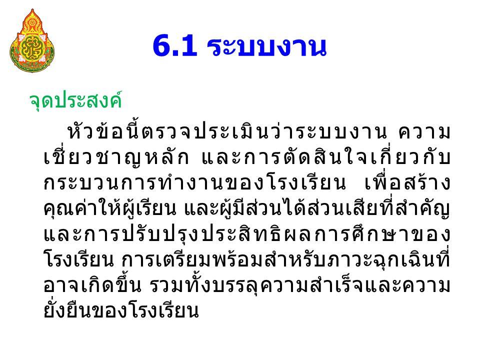 6.1 ระบบงาน
