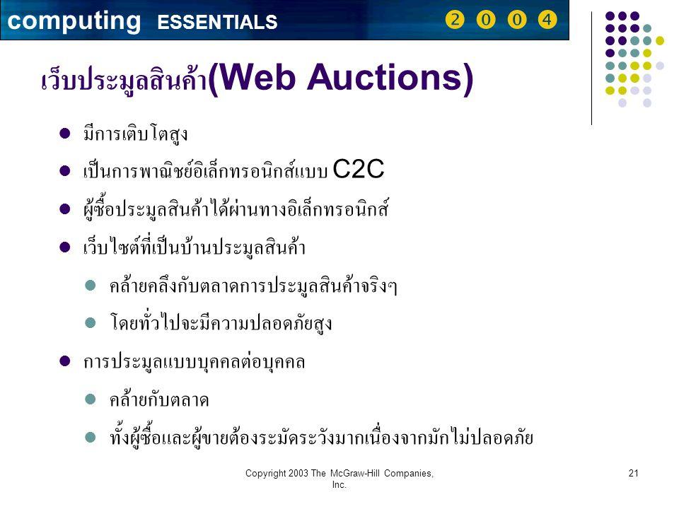 เว็บประมูลสินค้า(Web Auctions)