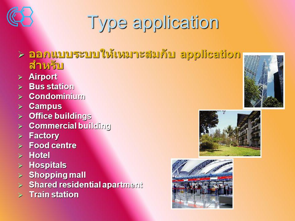 Type application ออกแบบระบบให้เหมาะสมกับ application สำหรับ Airport