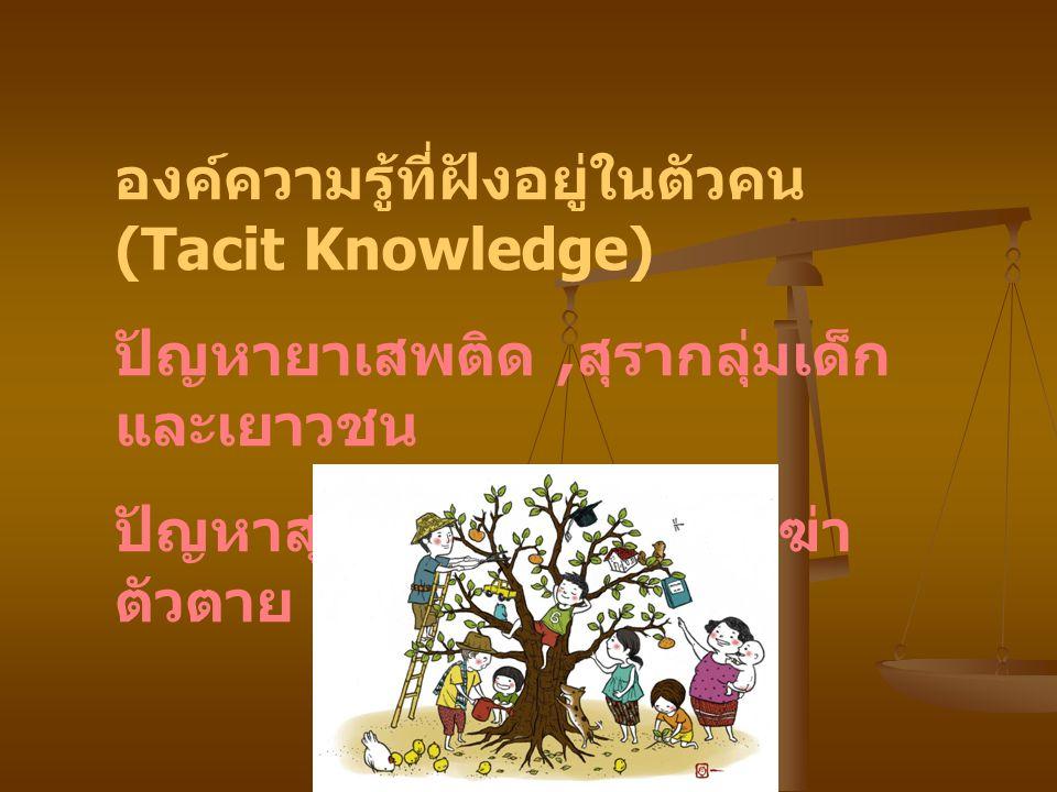องค์ความรู้ที่ฝังอยู่ในตัวคน (Tacit Knowledge)