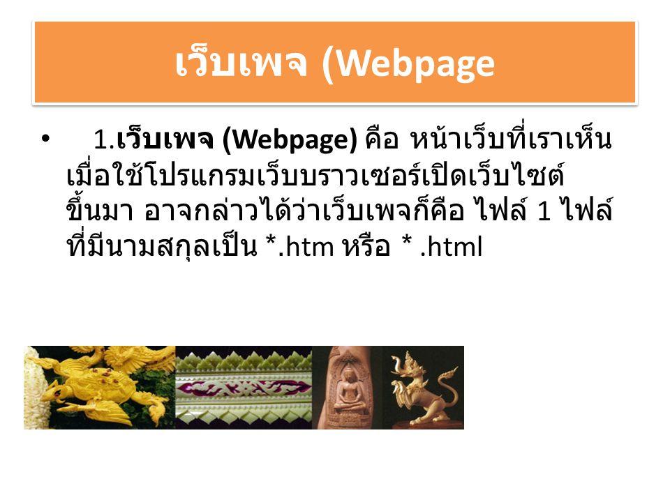 เว็บเพจ (Webpage