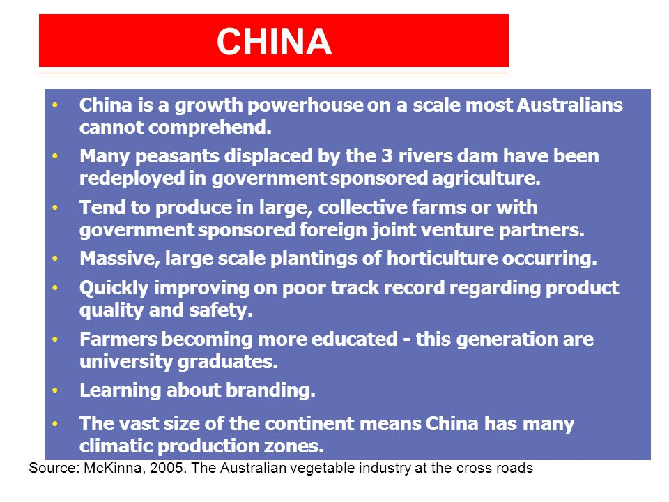 CHINA China is a growth powerhouse on a scale most Australians cannot comprehend.