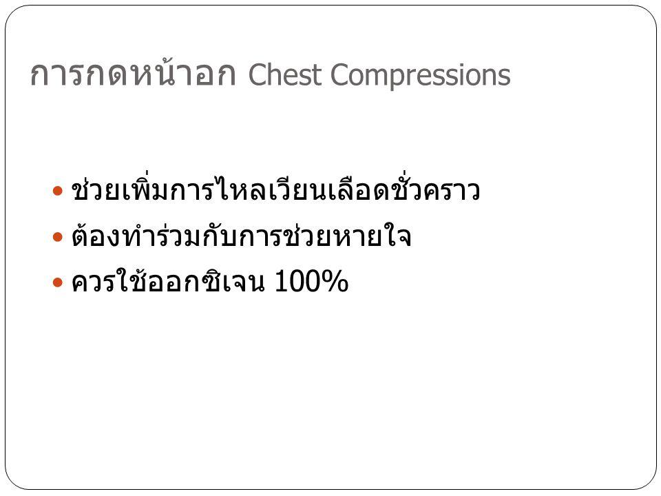 การกดหน้าอก Chest Compressions