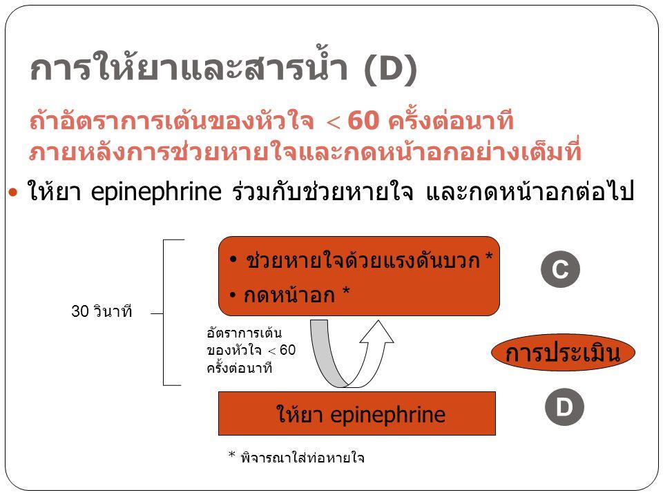 การให้ยาและสารน้ำ (D)