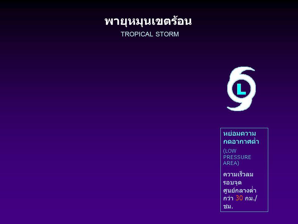 พายุหมุนเขตร้อน TROPICAL STORM หย่อมความกดอากาศต่ำ