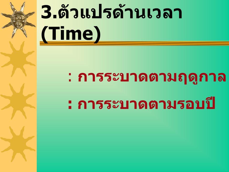 3.ตัวแปรด้านเวลา (Time)