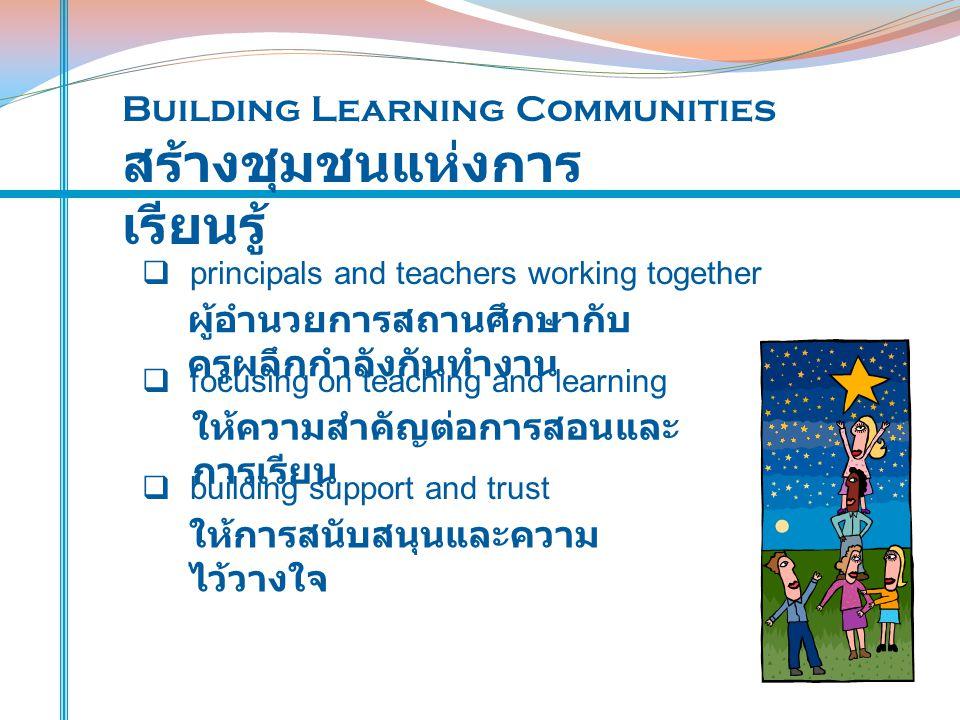 สร้างชุมชนแห่งการเรียนรู้
