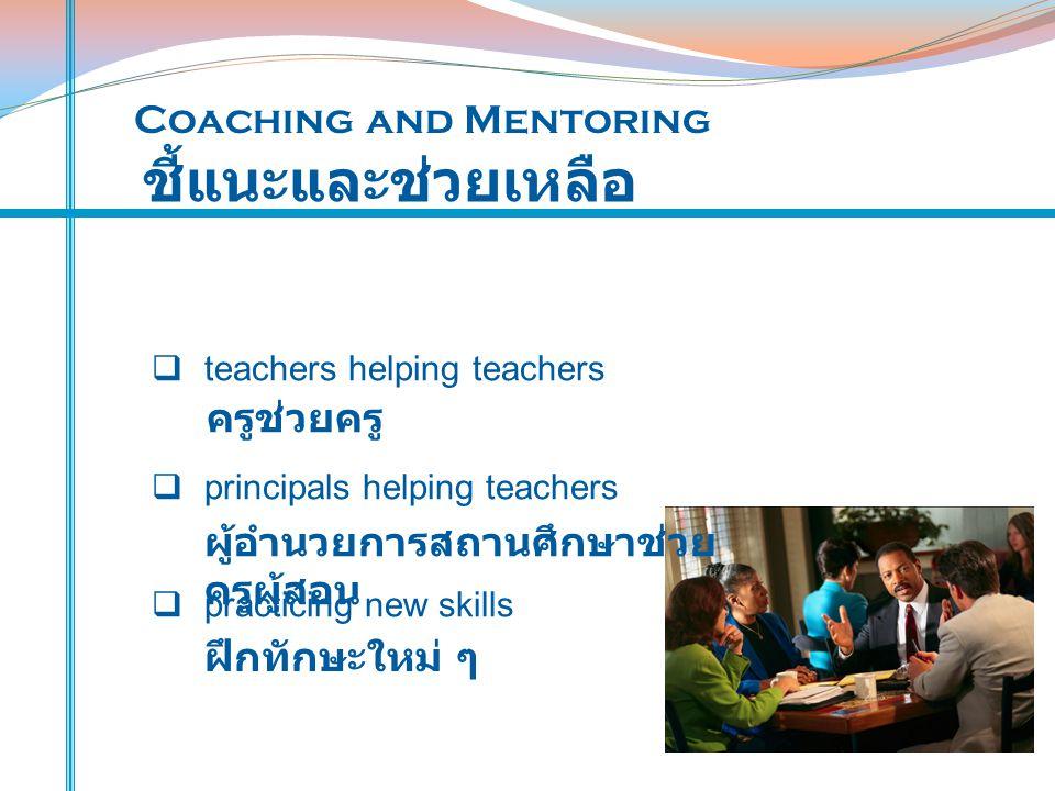 ชี้แนะและช่วยเหลือ Coaching and Mentoring ครูช่วยครู