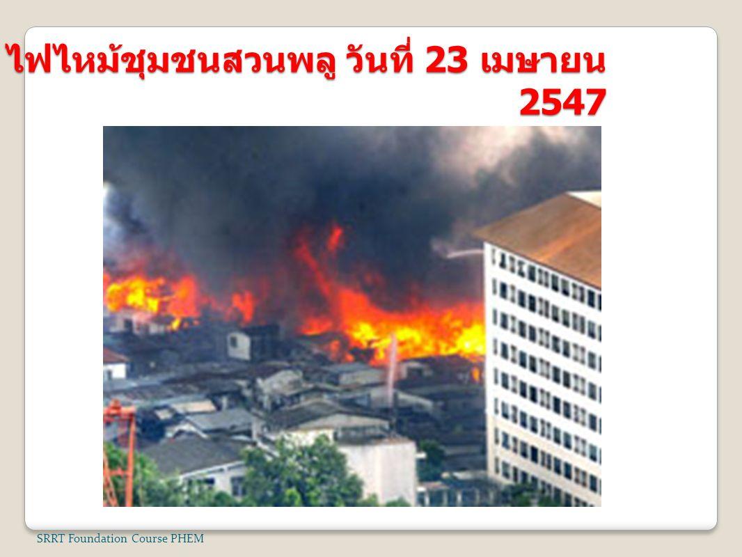 ไฟไหม้ชุมชนสวนพลู วันที่ 23 เมษายน 2547