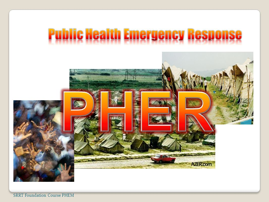 Public Health Emergency Response