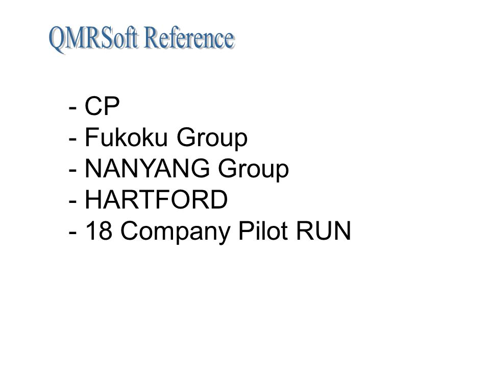 - CP - Fukoku Group - NANYANG Group - HARTFORD - 18 Company Pilot RUN