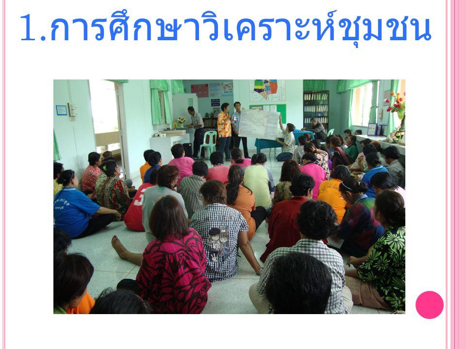 1.การศึกษาวิเคราะห์ชุมชน