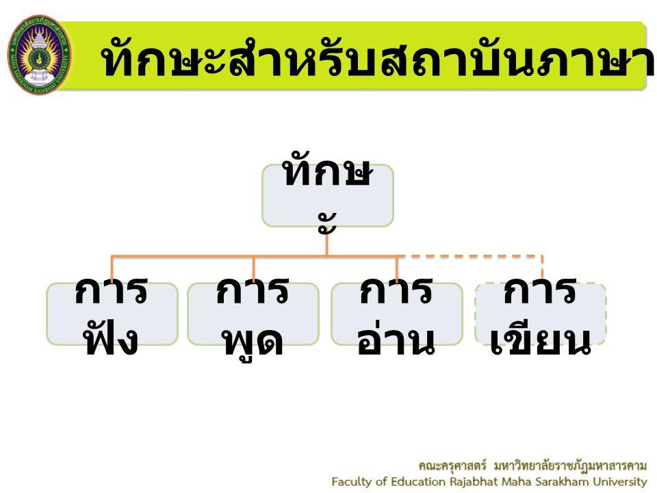 ทักษะสำหรับสถาบันภาษา