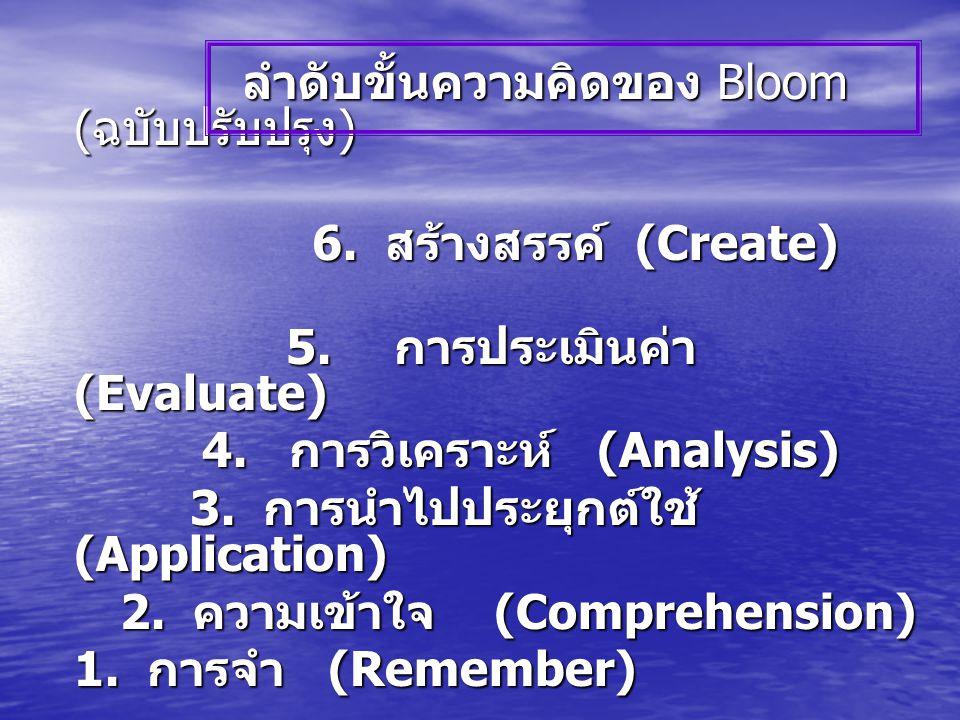 ลำดับขั้นความคิดของ Bloom (ฉบับปรับปรุง)