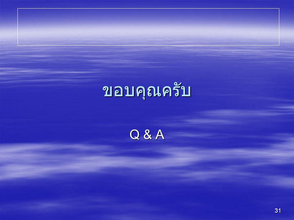 ขอบคุณครับ Q & A