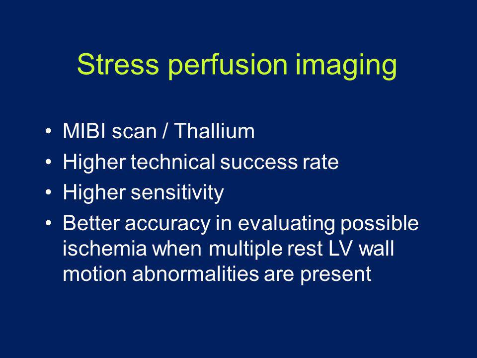 Stress perfusion imaging