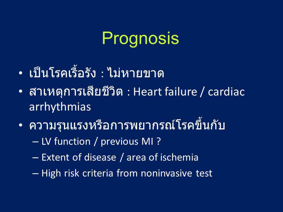 Prognosis เป็นโรคเรื้อรัง : ไม่หายขาด