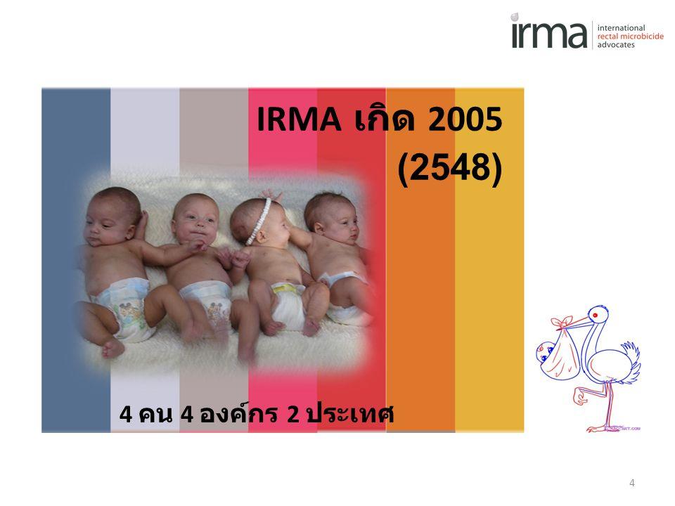 IRMA เกิด 2005 (2548) 4 คน 4 องค์กร 2 ประเทศ