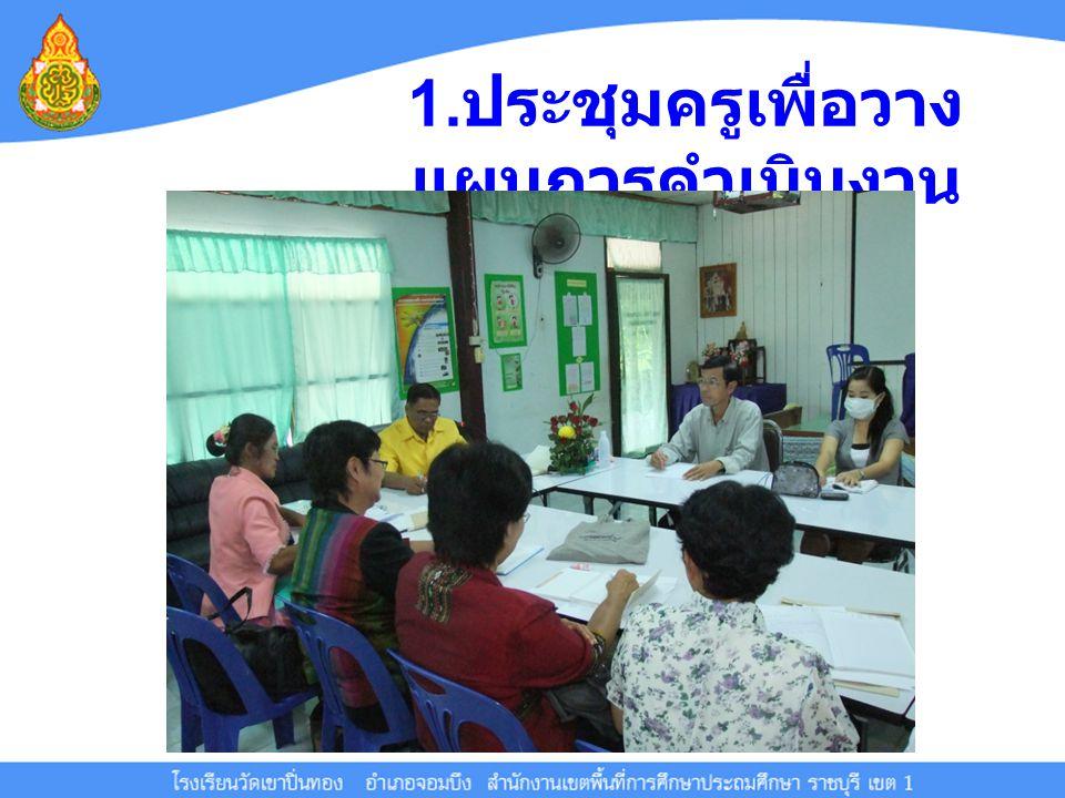 1.ประชุมครูเพื่อวางแผนการดำเนินงาน