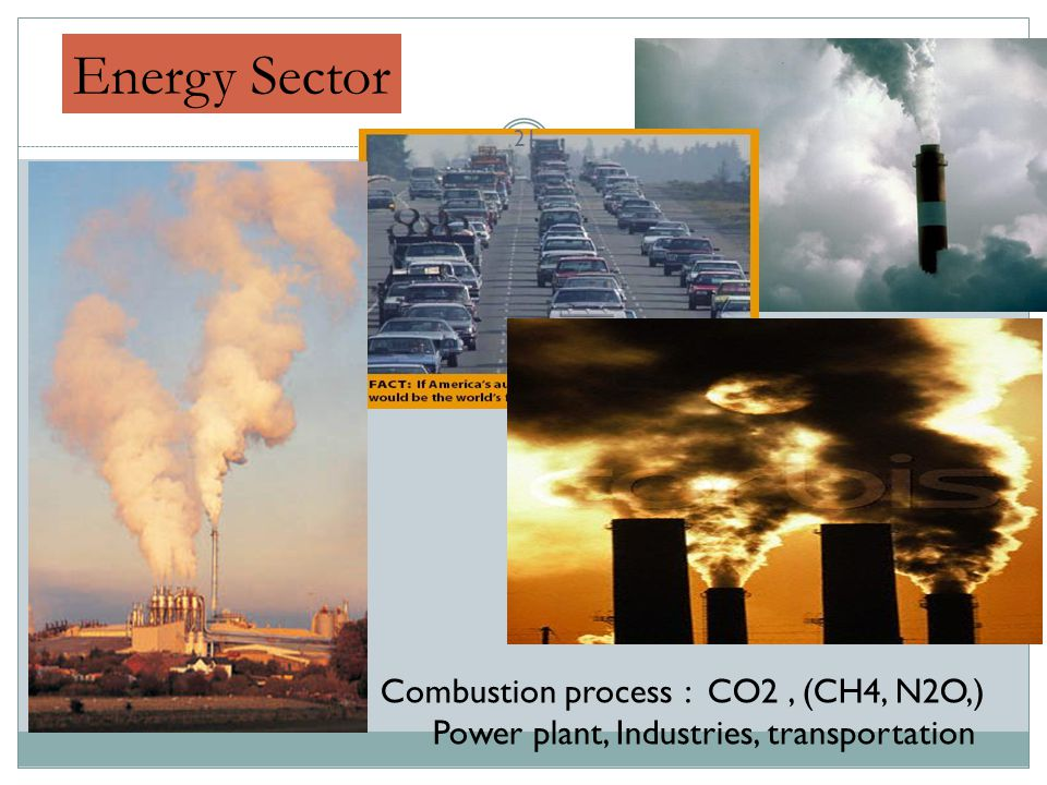 Energy Sector Combustion process : CO2 , (CH4, N2O,)