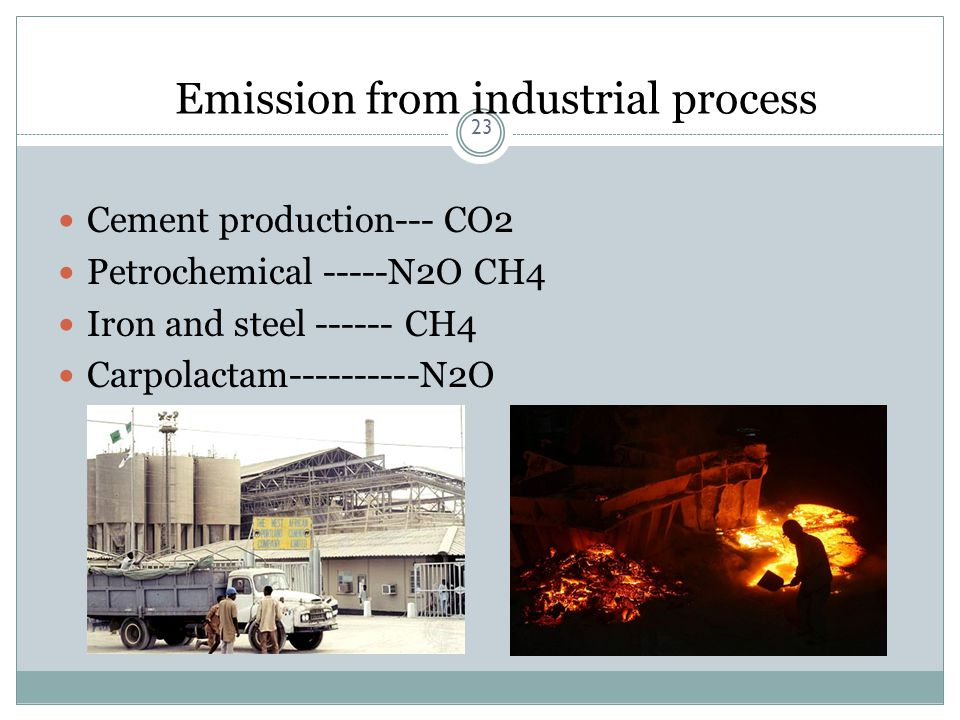 Emission from industrial process