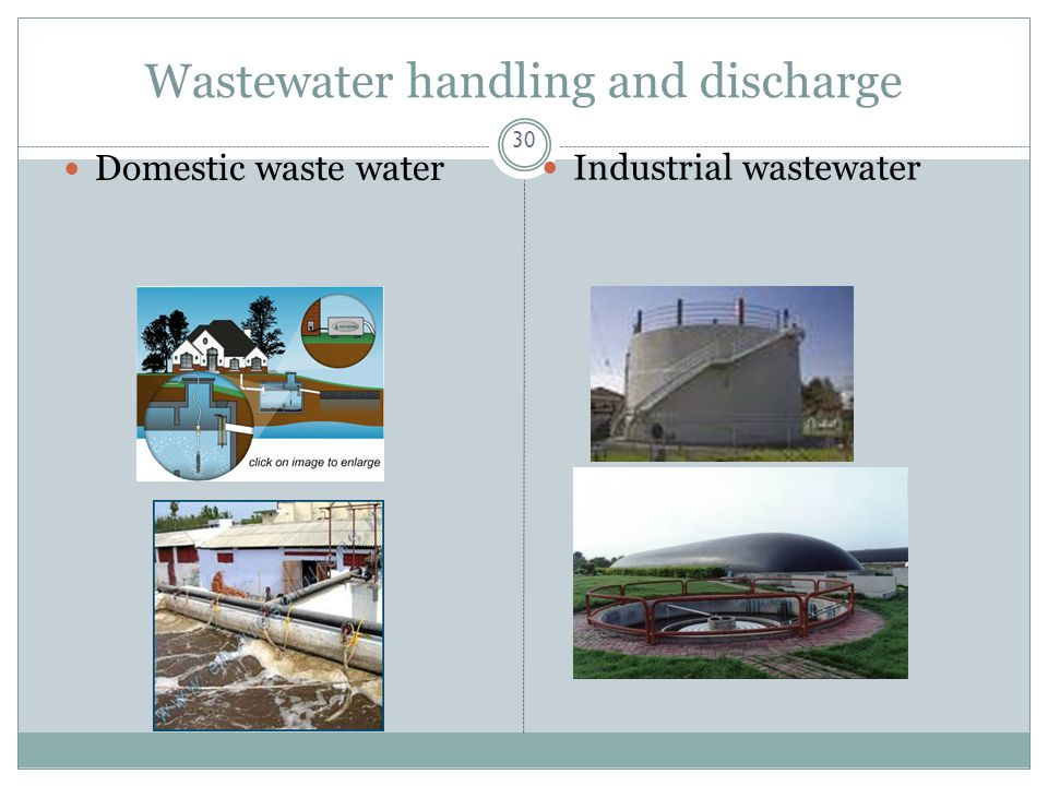 Wastewater handling and discharge