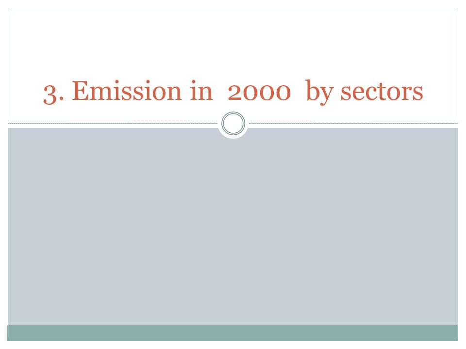 3. Emission in 2000 by sectors