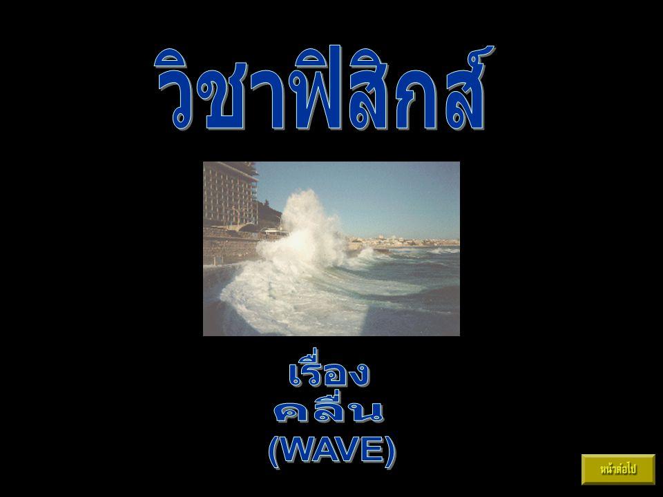 วิชาฟิสิกส์ เรื่อง คลื่น (WAVE)