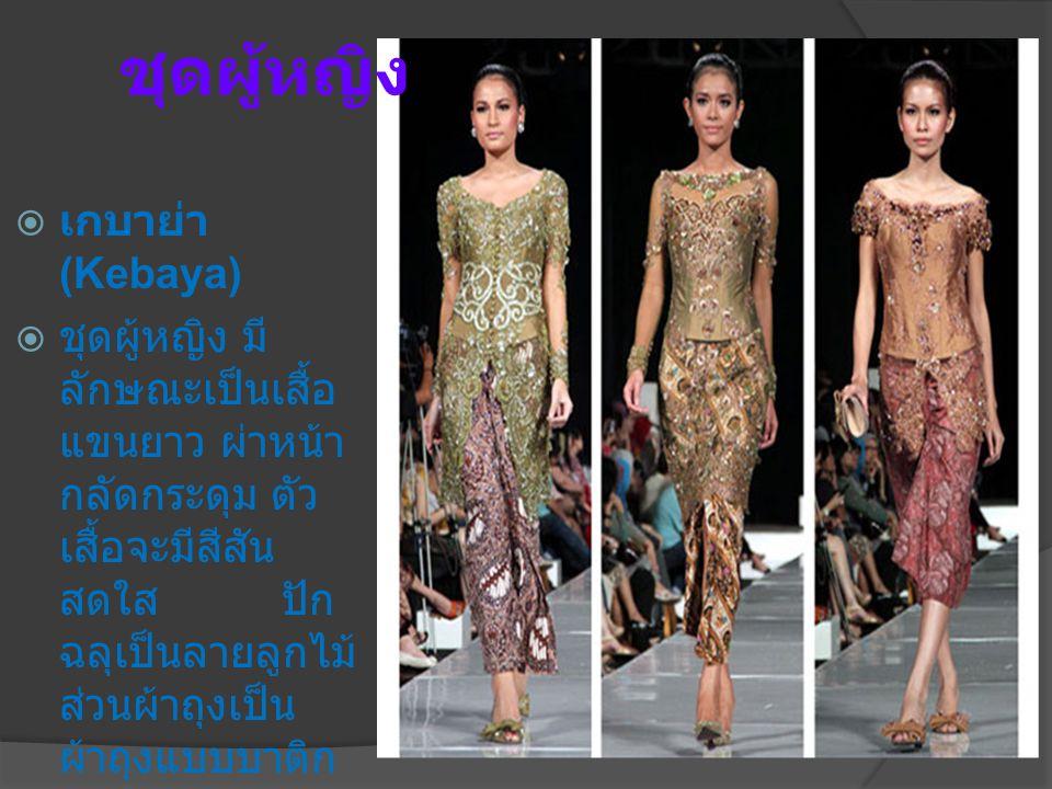 ชุดผู้หญิง เกบาย่า (Kebaya)