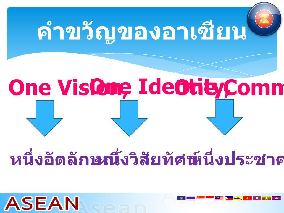 คำขวัญของอาเซียน One Vision, One Identity, One Community