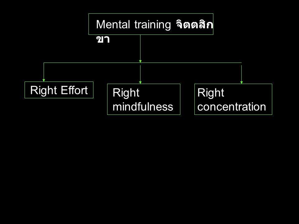 Mental training จิตตสิกขา