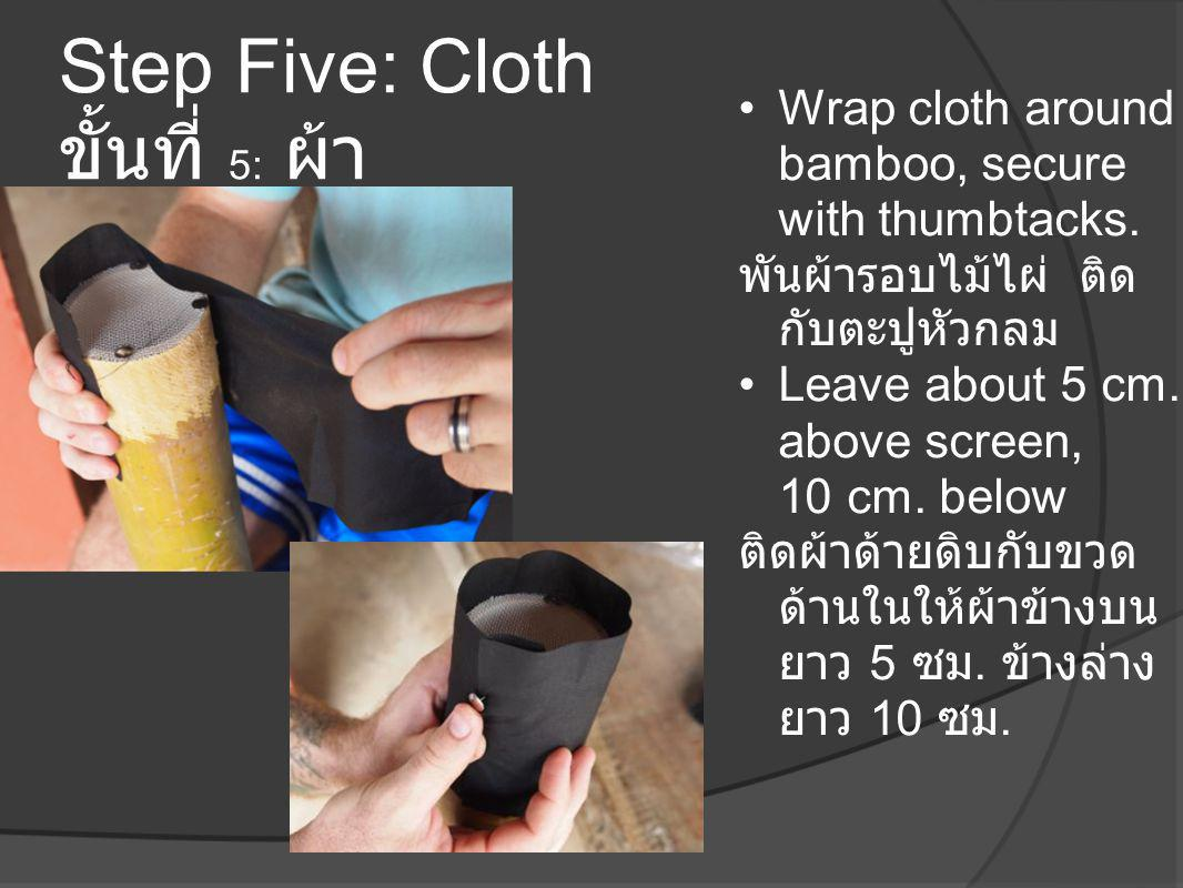 Step Five: Cloth ขั้นที่ 5: ผ้า
