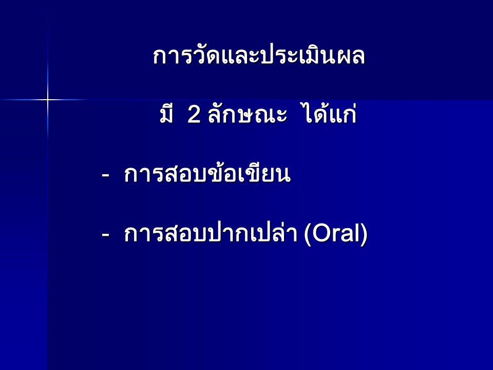 การสอบปากเปล่า (Oral)